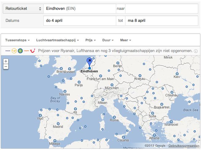 frankrijk luchthavens kaart