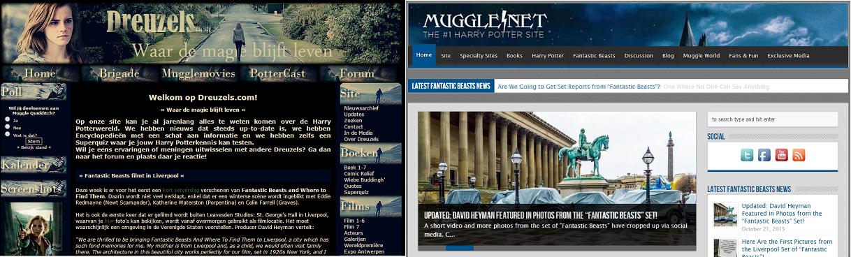 Blog Transmedial Storytelling - Dreuzels en Mugglenet