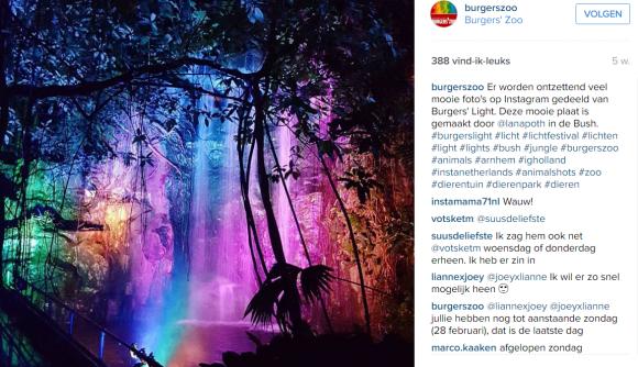 Burgers's Light - instagram strategie burgerszoo
