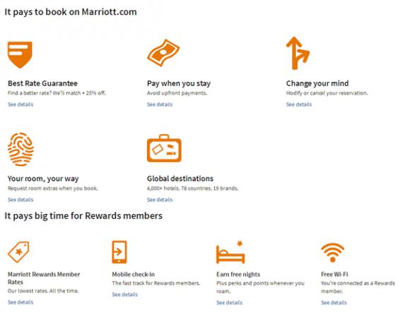 direct boeken via marriott