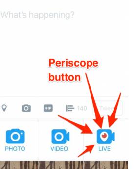 Periscope button