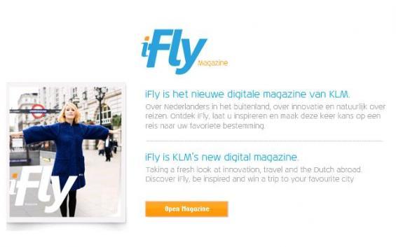 iFly het nieuwe digitale magazine van KLM