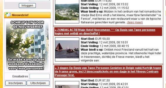 Nieuwe website Hotelkamerveiling.nl