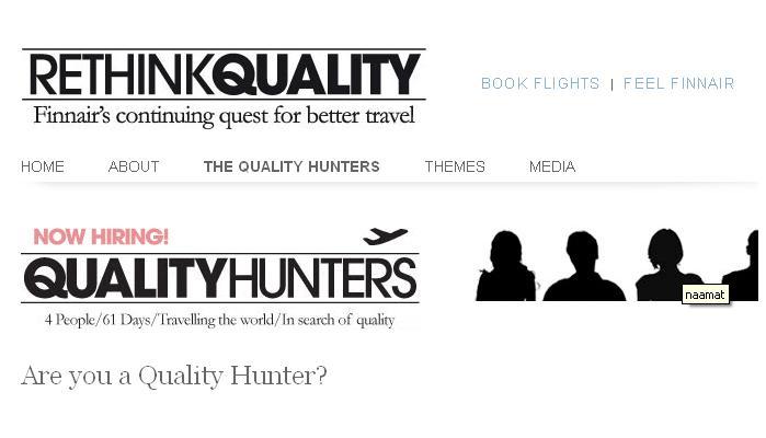 Finnair zoekt quality hunters