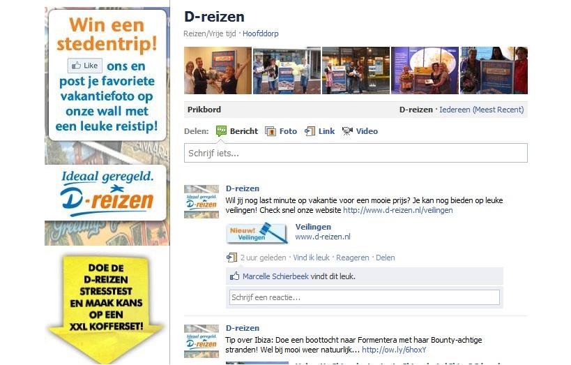 Facebook D-reizen