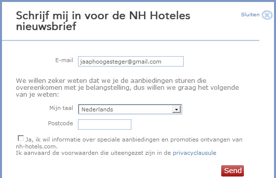 inschrijving nh hotels