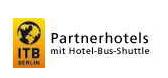 Let op dit logo in het hotel voor gratis shuttle vervoer naar de ITB