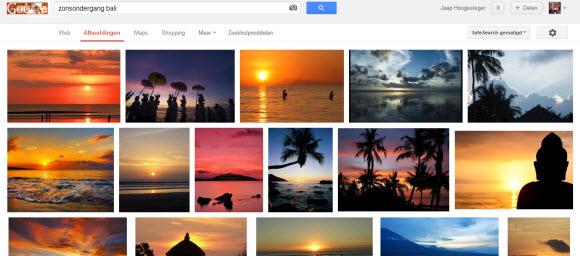 Zoekresultaat zonsondergang Bali Google afbeeldingen