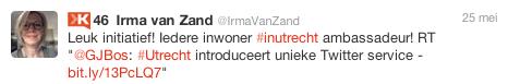 online reacties introductie hashtag #inUtrecht