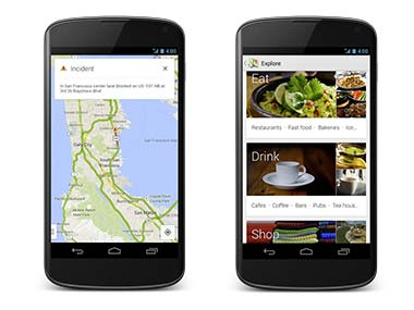 Google Maps update Explore