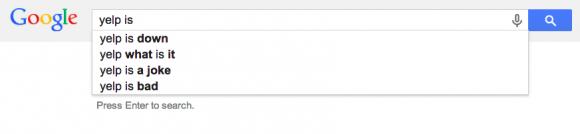 google automatisch aanvullen Yelp