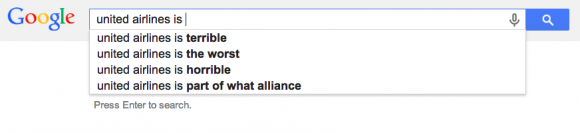 google automatisch aanvullen united airlines