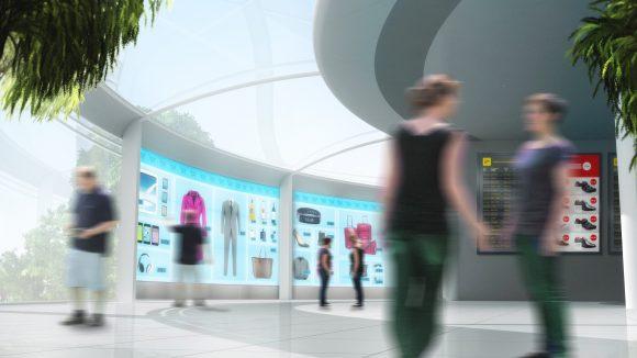 digital shopping wall