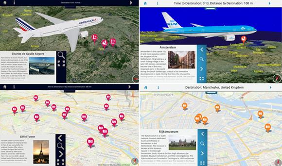 KLM en Air France introduceren 'geotainment'