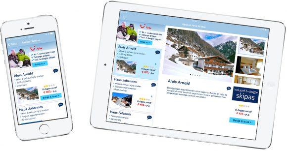 sneeuwhoogte smartphone tablet app