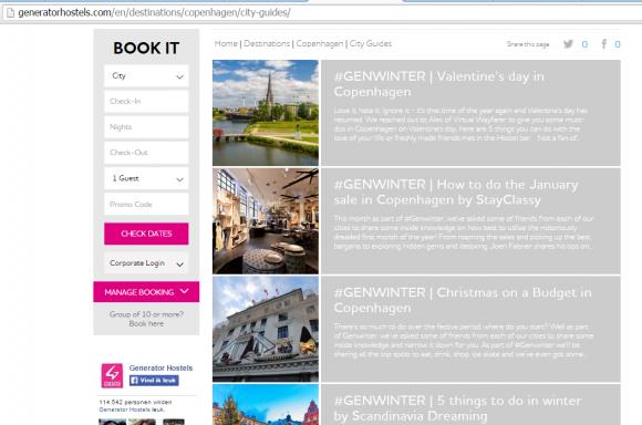cityguide printscreen user generated content