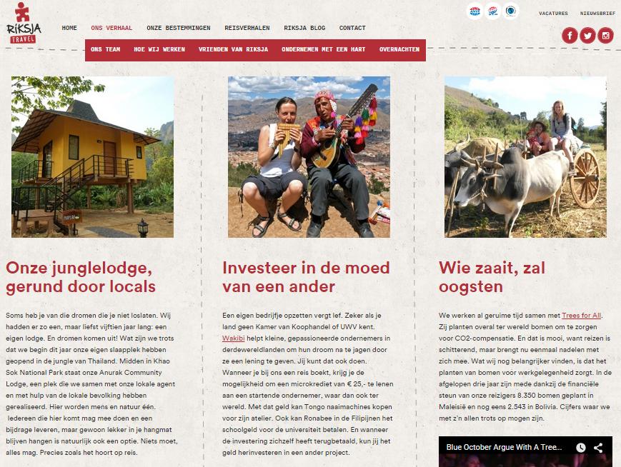 Blog Riksja Travel - Duurzaamheid