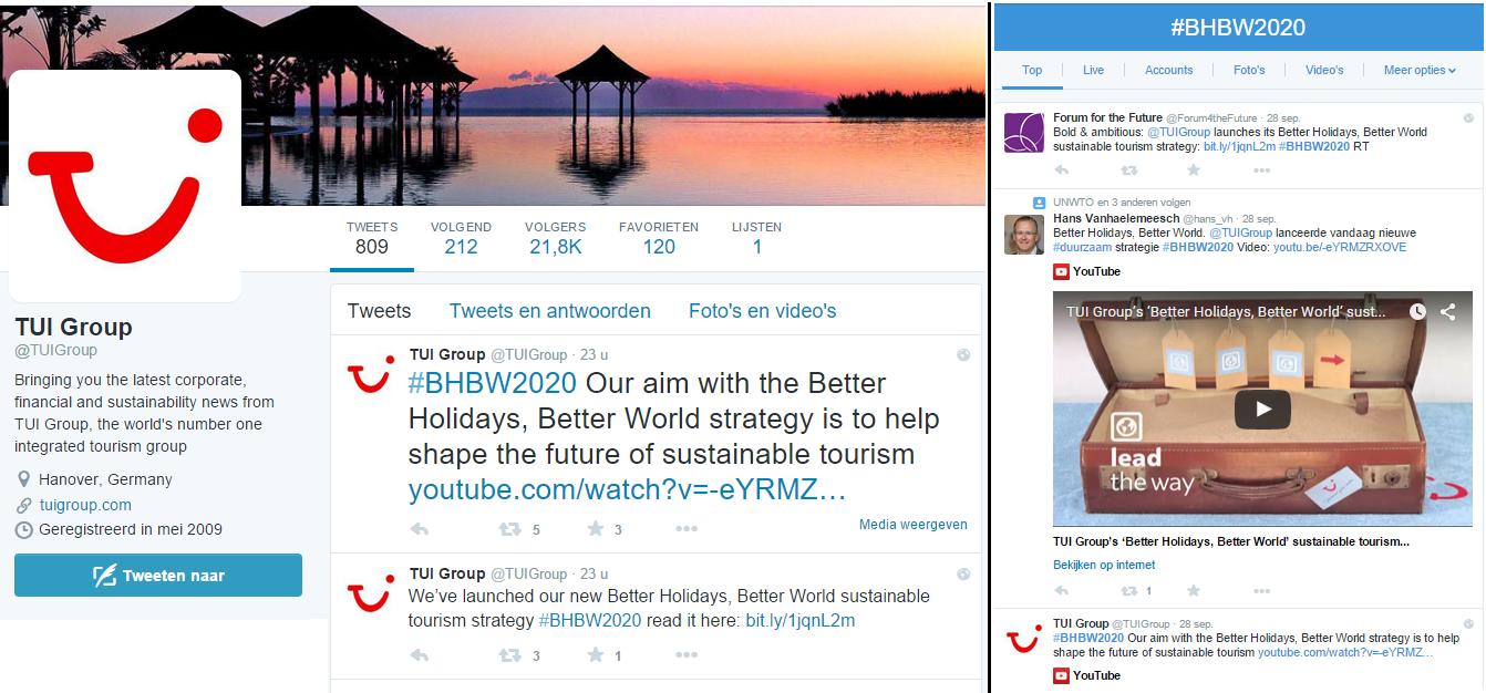 Blog Duurzaamheid & Tui - Tweets
