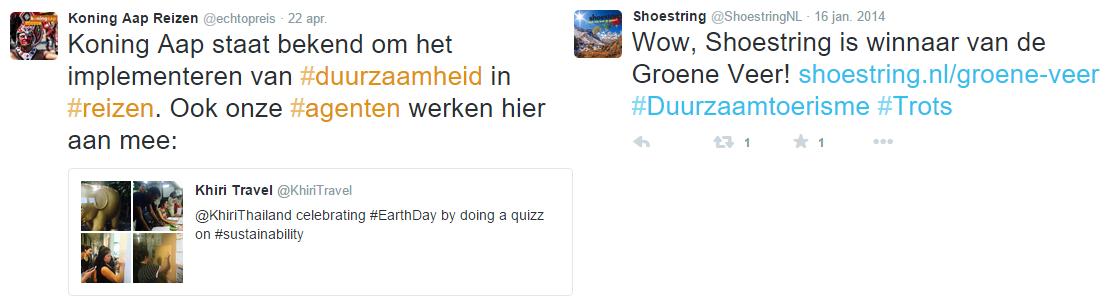 Blog Duurzaamheid - Twitter Koning Aap en Shoestring