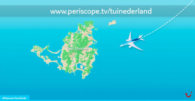 Landing TUI Dreamliner op Sint Maarten live te volgen via Periscope
