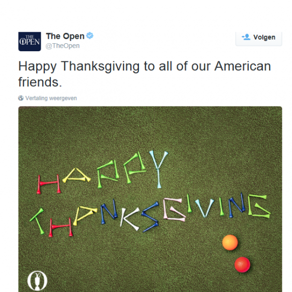 thanksgiving the open