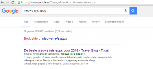 nieuwe reis apps Google - TravelNext