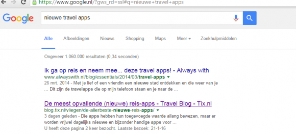 nieuwe travel apps Google TravelNext