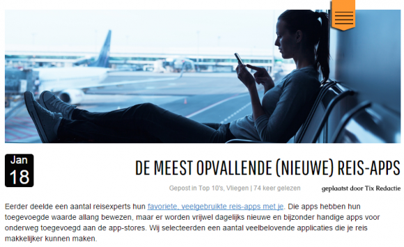 slim bloggen volgens TIX - TravelNext