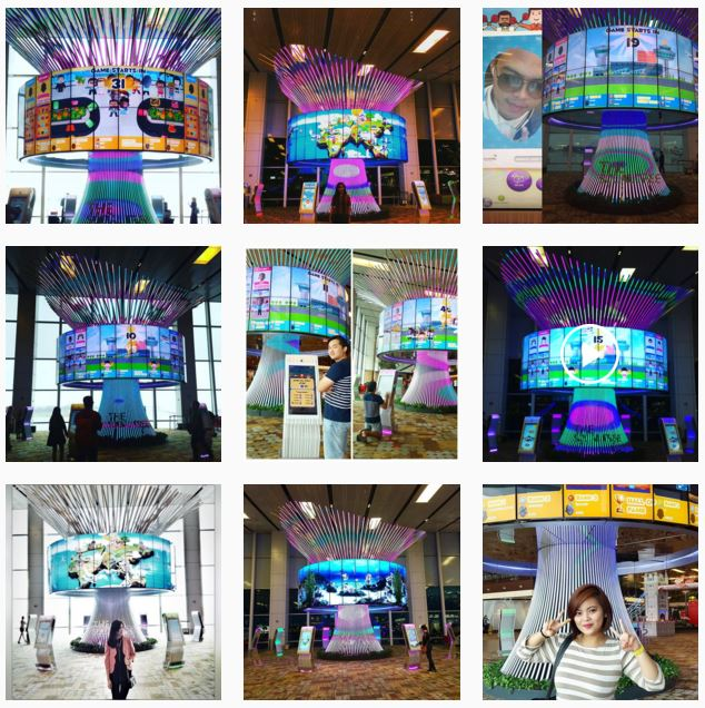 Blog Airport marketing social tree changi insta