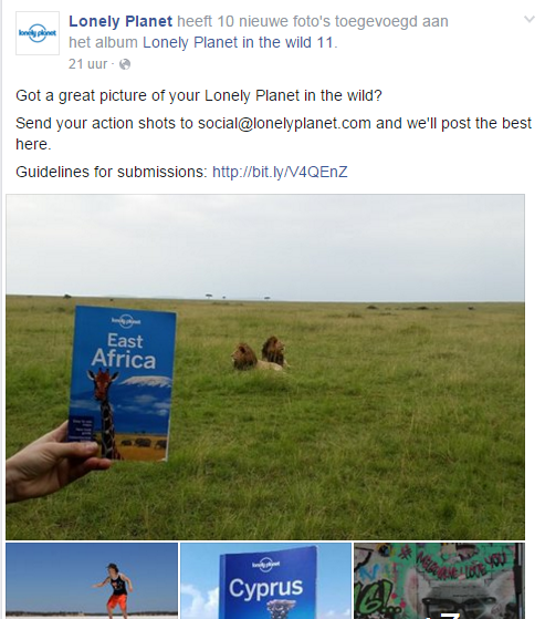 Lonely Planet in the wild Facebook - TravelNext