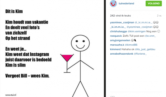 be like Kim TUI Nederland