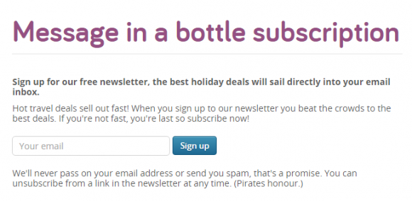 message in a bottle e-mailmarketing