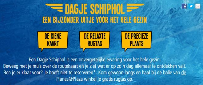 Blog airport marketing dagje Schiphol