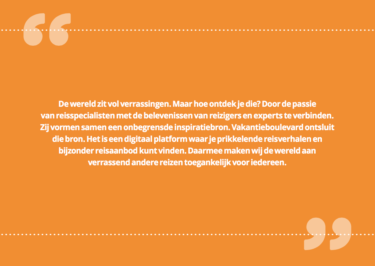 Story Vakantieboulevard.nl