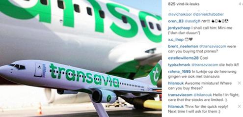 Instagram onderzoek reiswereld - Transavia