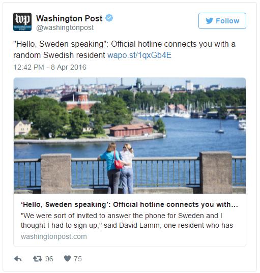 washingtonpost Bel een Zweed