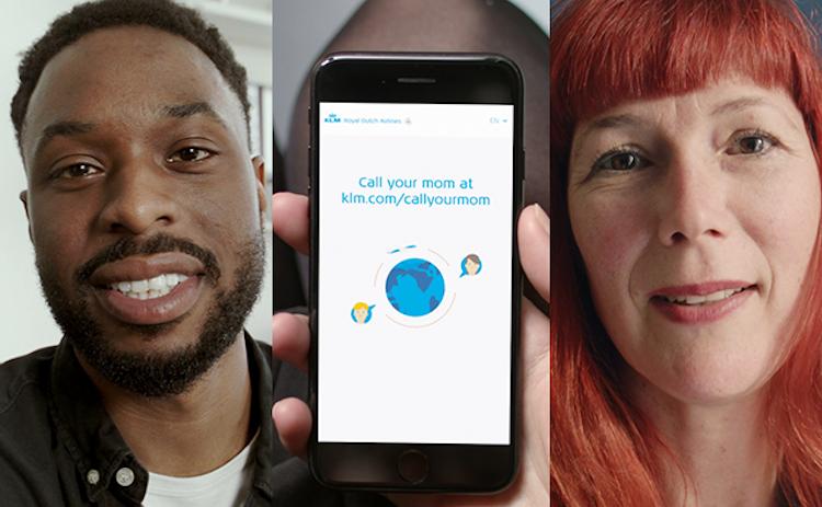 KLM wil moeders en kinderen samenbrengen met 'Call your Mom'
