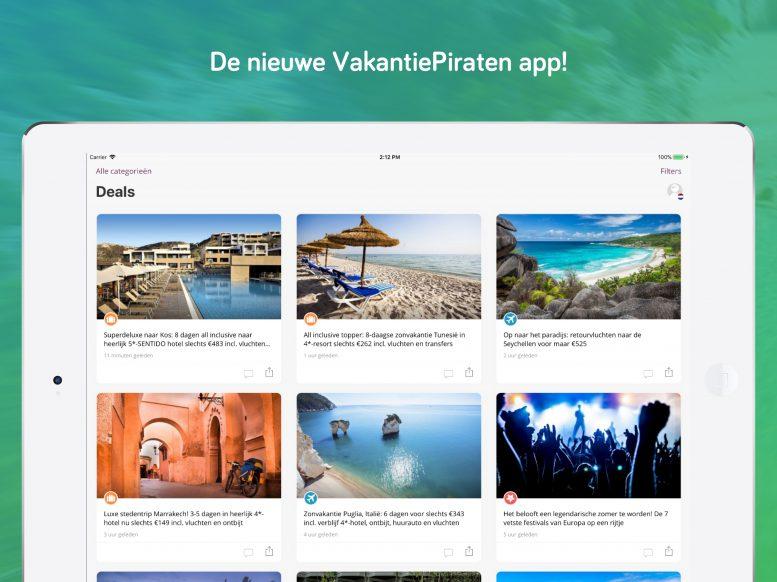 Technische verbeteringen in nieuwe versie VakantiePiraten app