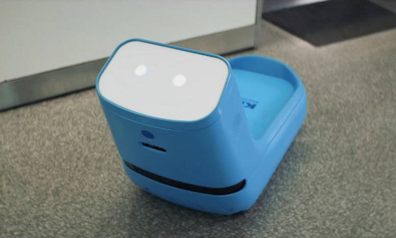 KLM test robot Care-E in Amerika