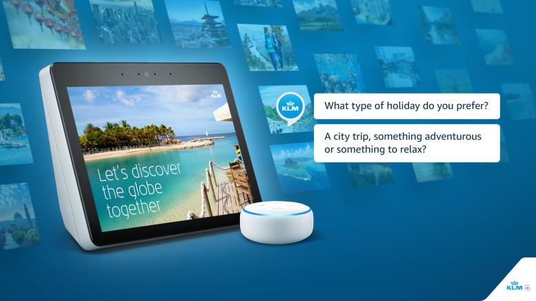 KLM: persoonlijk advies via smart speaker Amazon Alexa